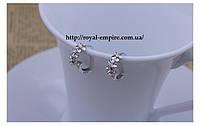 """Серьги """"Фея"""" покрытие серебро 925 проба, с кристаллами."""