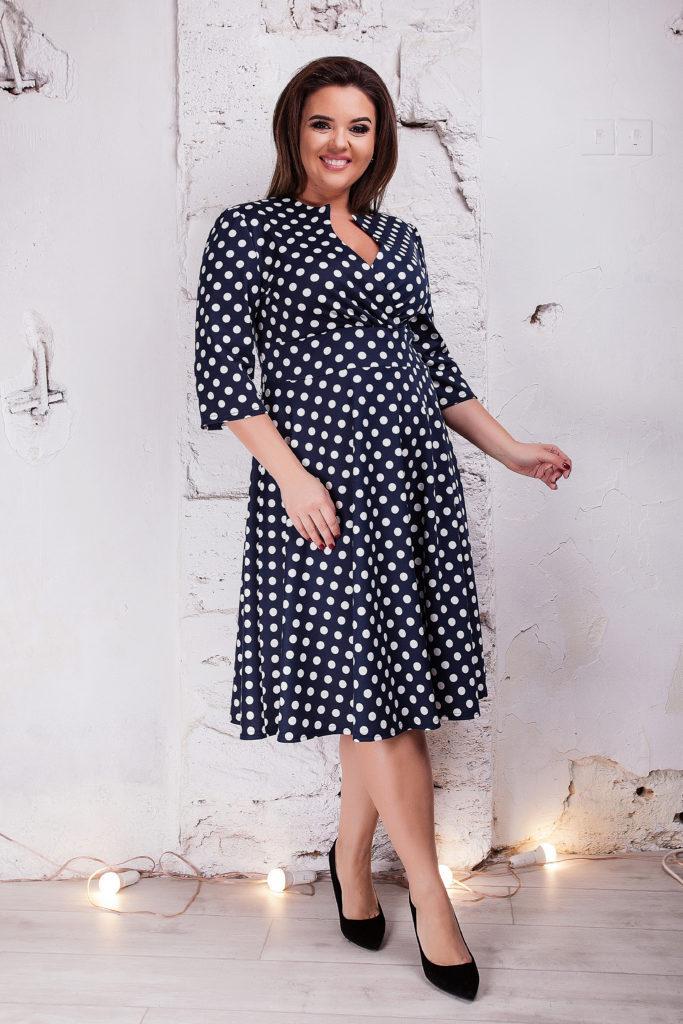 Женское платье Марго горох 8301