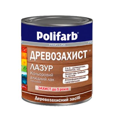 Лак по дереву алкидный Polifarb (Полифарб) цвет - каштан (2,2 кг)