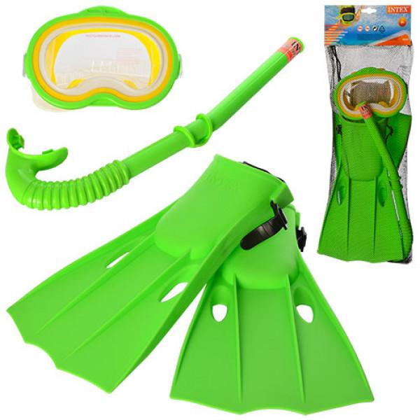 Набор для плавания и ныряния - маска, трубка и ласты, размер м, 55955