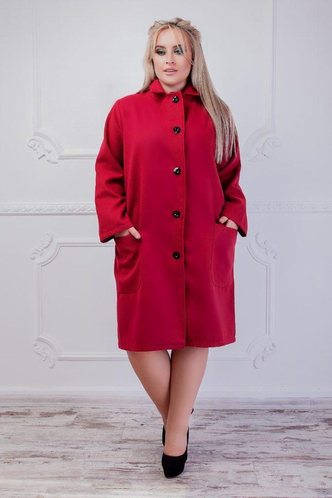 Женское кашемировое пальто электрик 8266