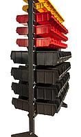 Комплект стоек двухстороннего стеллажа АТМ1 Н1500 мм на регулируемых опорах, без ящиков и траверс
