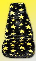"""StarPilot - Комплект декоративных, универсальных меховых чехлов """"Желтые звезды"""", 1+1 и задний диван"""
