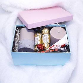 Подарочный набор со свечами и сладостями №3