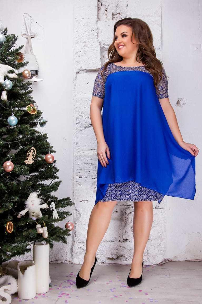 Женское платье 2 в 1, синее 8277