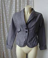 Пиджак женский модный стильный жакет офис хлопок La Redoute р.42-44