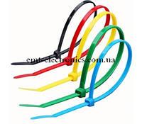 Комплект стяжек цветных кабельных нейлон