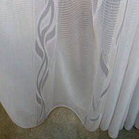 Органза,гардина, тюль белая с рисунком