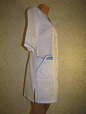 Медицинский женский белый халат 2192-1 (батист 62,64,66 р-ры ), фото 3