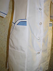 Медицинский женский белый халат 2192-1 (батист 62,64,66 р-ры ), фото 2