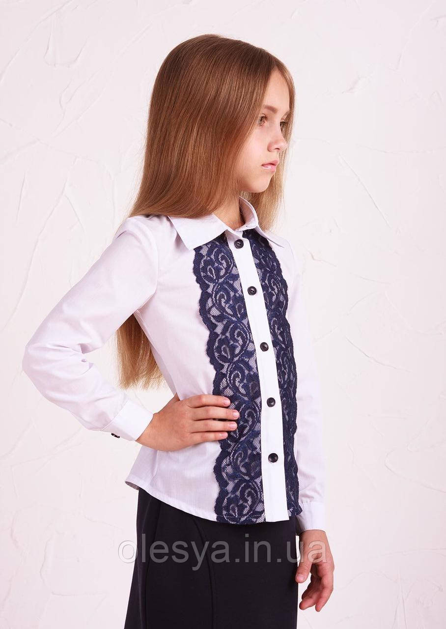 Рубашка №3 синее кружево подросток Sofia Shelest