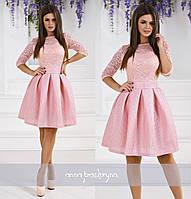 Женское нарядное платье с пышной юбкой в разных цветах