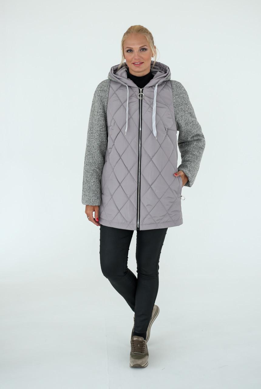 Женская комбинированная куртка деми