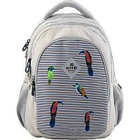 Рюкзак ортопедический Kite Education 8001-5, для девочек, серый (K19-8001M-5)