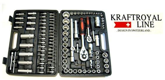 Набор инструментов Kraft Royal Line 108 предметов в кейсе швейцария инструменты для гаража автомобиля