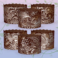 Бумажные формы для выпечки Пасхи (130*85) Жар-Птица, на 400 гр, 50 шт/уп