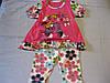Детский летний комплект: туника и бриджи, для девочки 1-2 года .Турция
