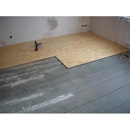 Монтаж плит OSB на деревянный пол