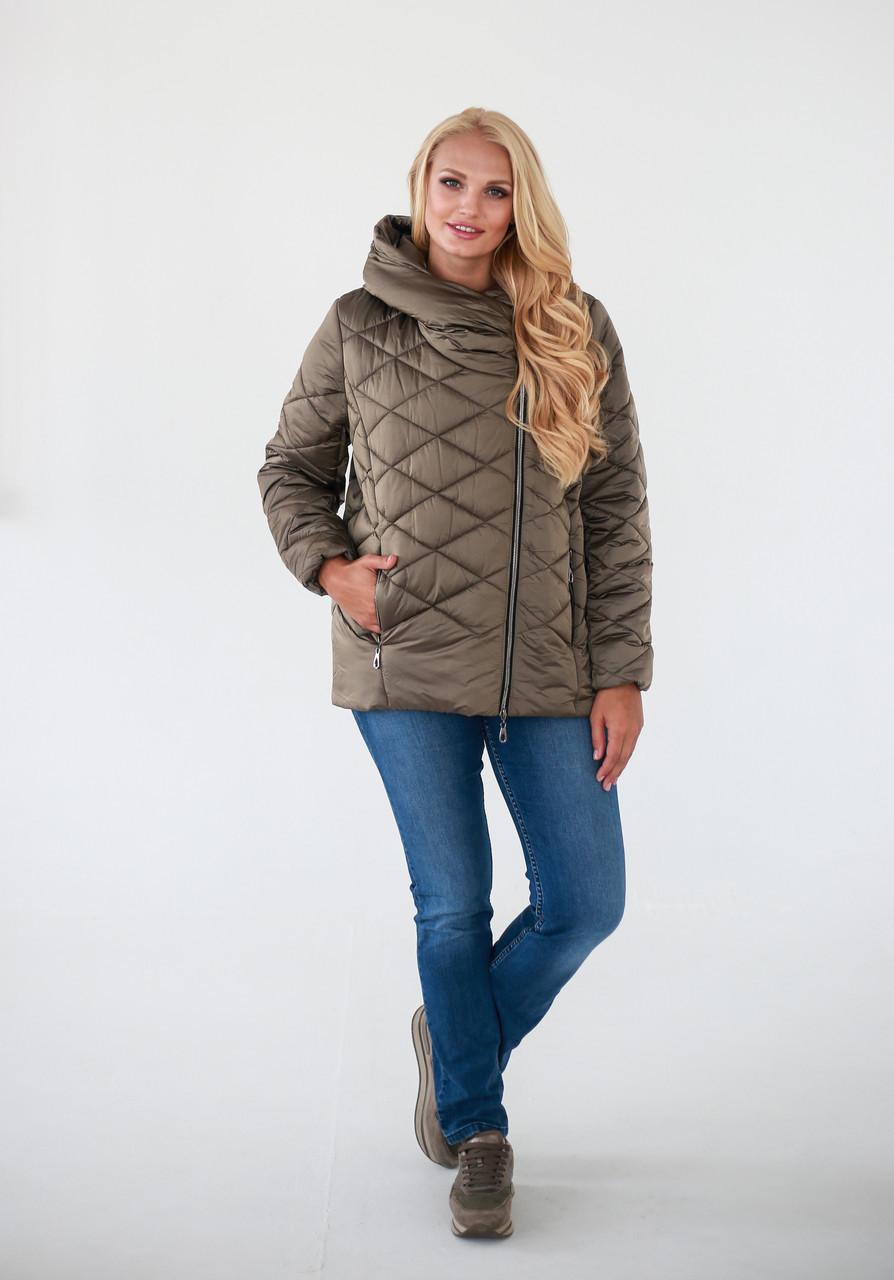 Женская куртка из нейлона, размеры 52-58