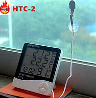 Термометр многофункциональный термо-гигрометр HTC-2, фото 1