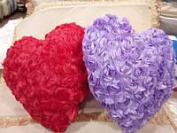 Подушка мягкая Сердечко цветочное