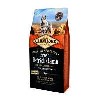 Сухой корм для собак Carnilove Fresh Ostrich & Lamb for Small Breeds со свежим мясом страуса и ягненка