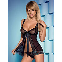 Babydoll комплект - сексуальная сорочка пеньюар и стринги Obsessive (эротическое женское нижнее белье)