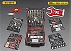 Набір інструментів ручної у валізі Smart Kraft SK-009 (Swiss Kraft) 259 шт для автомобіля гаража, фото 2
