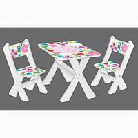 Столик со стульчиками Bambi Цветочки (М 2100-22)