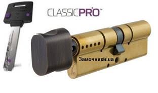 Цилиндр Mul-T-Lock ClassicPro54 мм.(27х27) с поворотником бронза