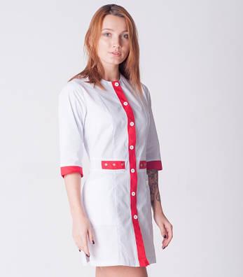 Оригинальный женский медицинский халат батист 2189 ( 42-60 р-р ), фото 2