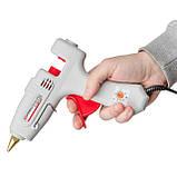 Пистолет клеевой 120(360)Вт, 230В, 100-220°C под стержни 10.8-11.5мм, 13-30 г/мин., рег. темп. INTERTOOL, фото 7
