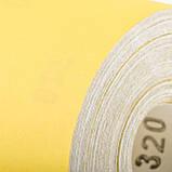 Шліфувальна шкурка на паперовій основі К320, 115мм*50м. INTERTOOL BT-0826, фото 4