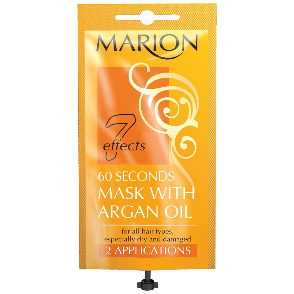 Экспресс маска для волос 60 секунд с аргановым маслом 15 мл Marion