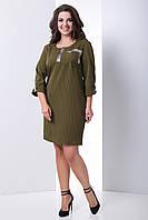 Платье из костюмной ткани в полоску Сильва, фото 1