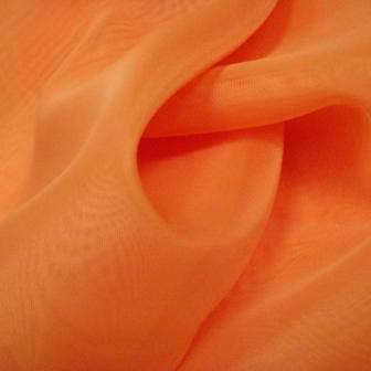 Шторный шифон Оранжевый (вуаль), фото 2