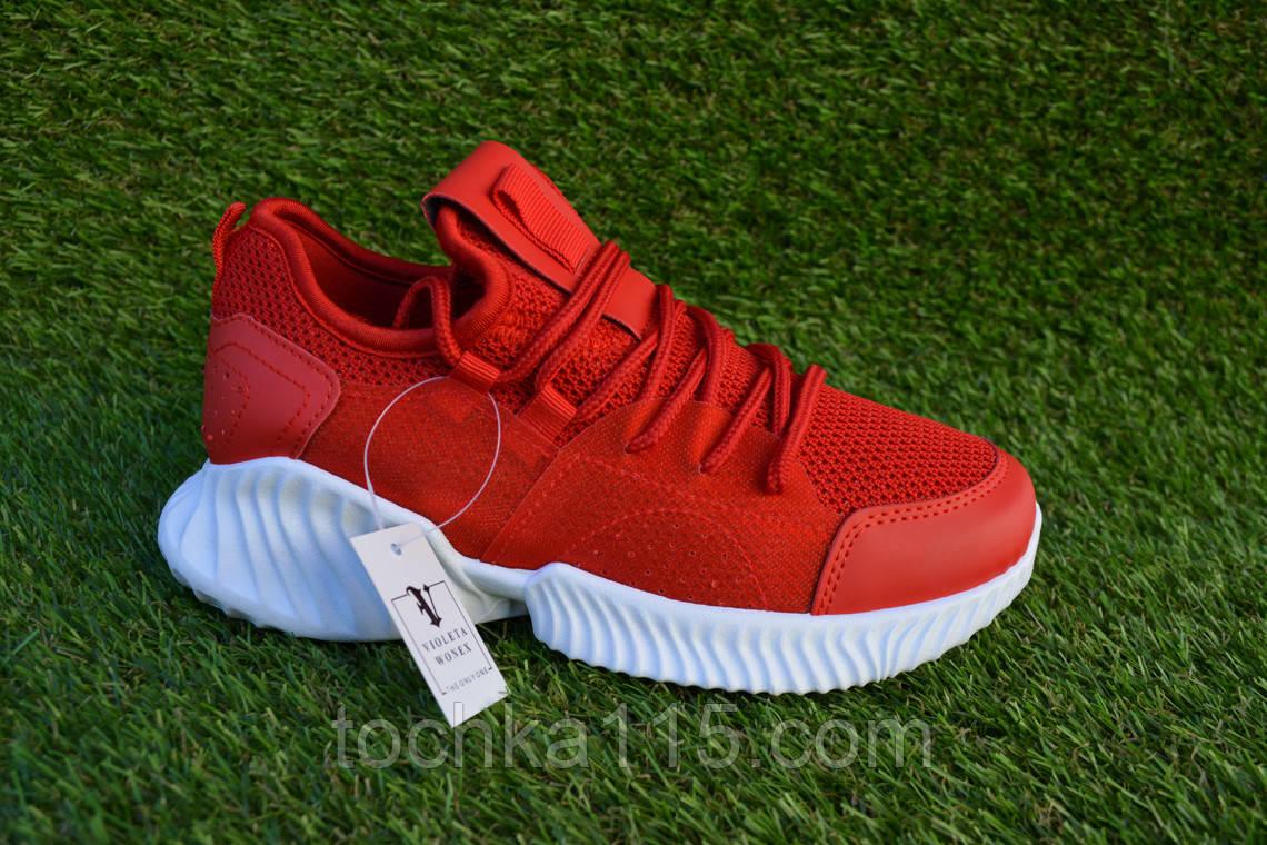 Женские кроссовки Adidas yeezy boost Red Адидас изи буст красные, копия, фото 1