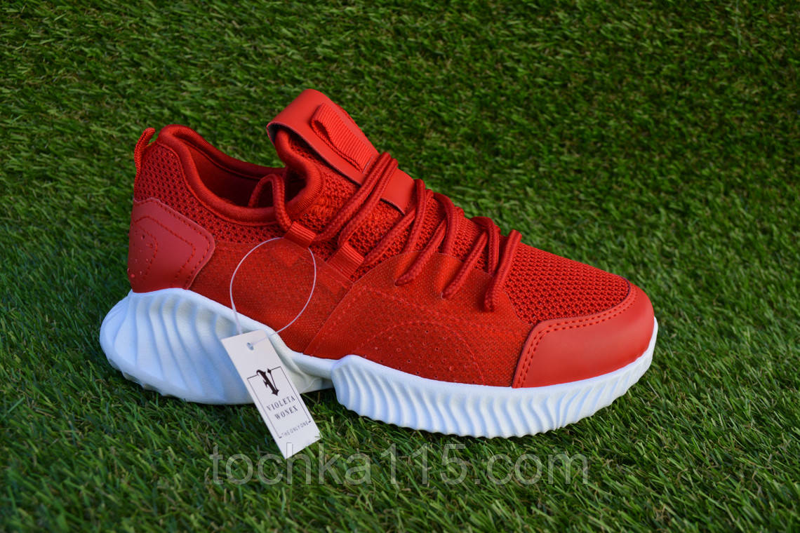 Женские кроссовки Adidas yeezy boost Red Адидас изи буст красные, копия
