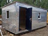 Бытовка строительная 6х2,30 м (внутри деревянная вагонка), фото 3