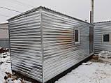 Бытовка строительная 6х2,30 м (внутри деревянная вагонка), фото 4