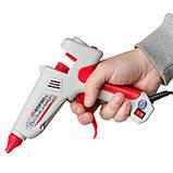 Пистолет клеевой 100(300)Вт, 230В, 215-230°C под стержни 10.8-11.5мм, 13-30 г/мин., выключатель INTERTOOL, фото 7