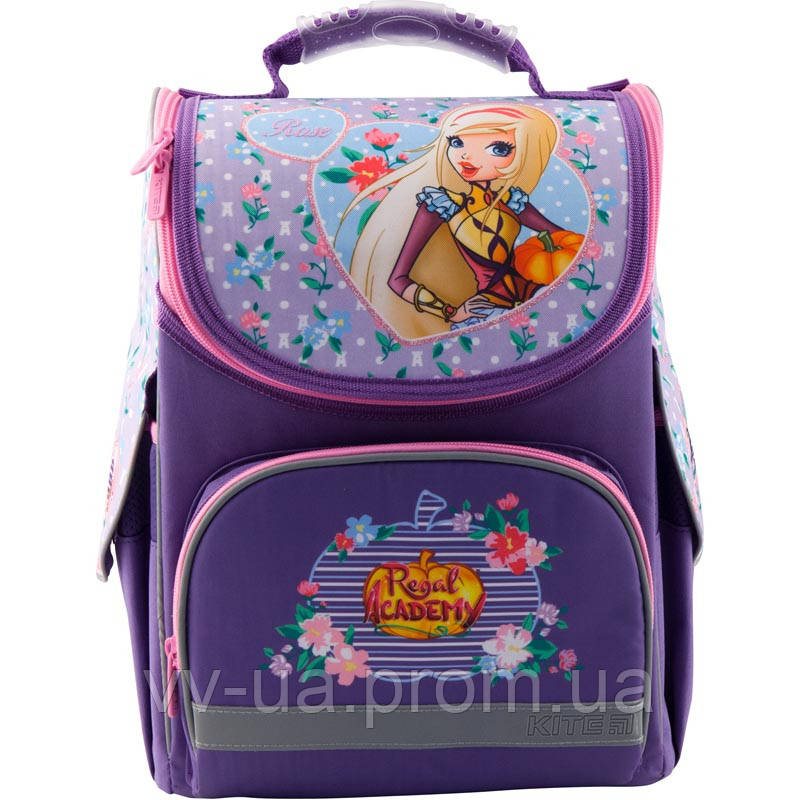 Рюкзак школьный каркасный ортопедический Kite Education 501 RA, для девочек, фиолетовый (RA19-501S)