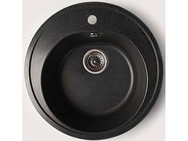 Мойка для кухни из керамогранита Valetti 510 мм цвет Черная