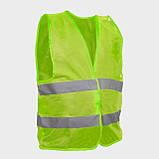 Жилет сигнальный зеленый XL (60*70см), 100 гр/м2 INTERTOOL SP-2023, фото 2