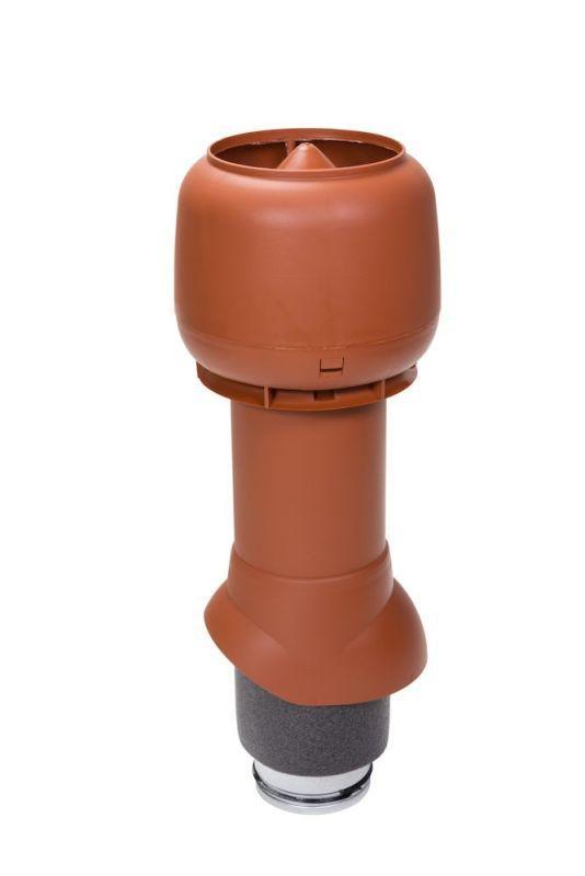 Вентиляционный выход VILPE® 125/ИЗ/500 изолированный. Цвет: Кирпичный