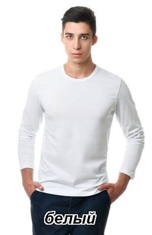 Реглан мужской однотонный 100% хлопок (белый)
