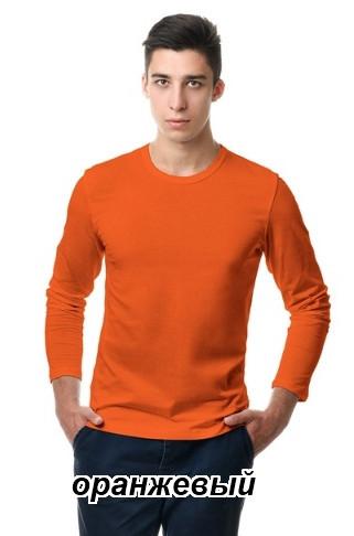 Реглан мужской однотонный 100% хлопок (оранжевый)