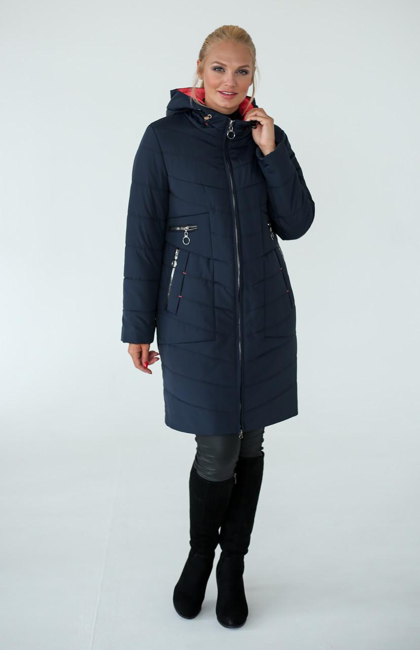 Полуприталенное демисезонное пальто