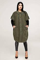 Модное пончо женское в 2х цветах В-1185 Cost размеры 44-60
