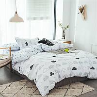 Двуспальный евро комплект постельного белья Тучи (двуспальный-евро) Berni